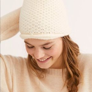 Free People Dreamland Knit Beanie in Ivory
